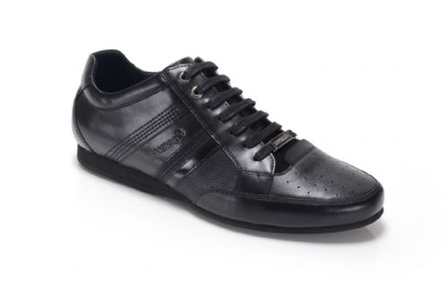 Bambooa Asti Black Leather Mens Designer Casual Shoes Trainers